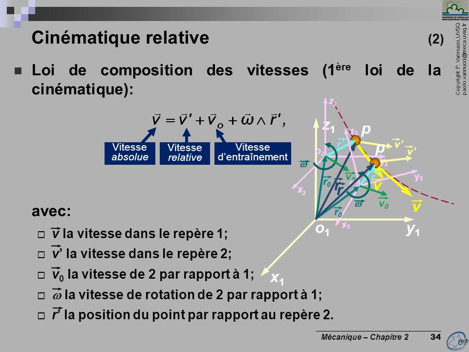 Cinématique relative (2)
