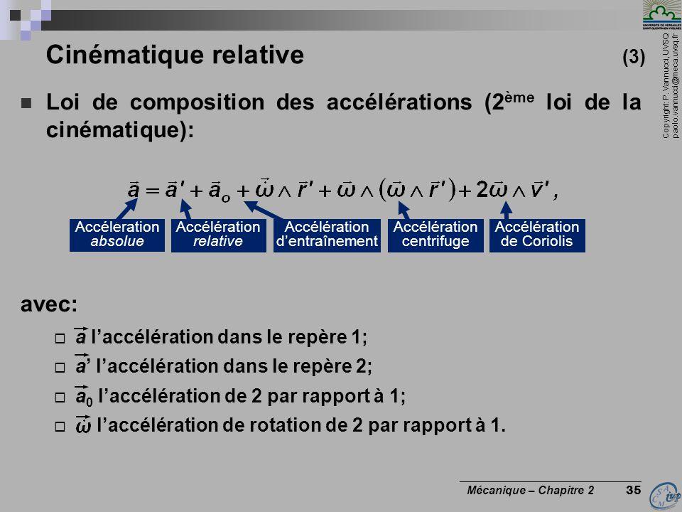 Cinématique relative (3)