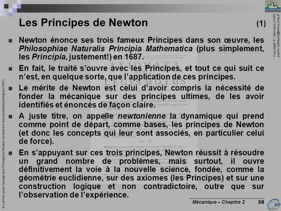 Les Principes de Newton (1)