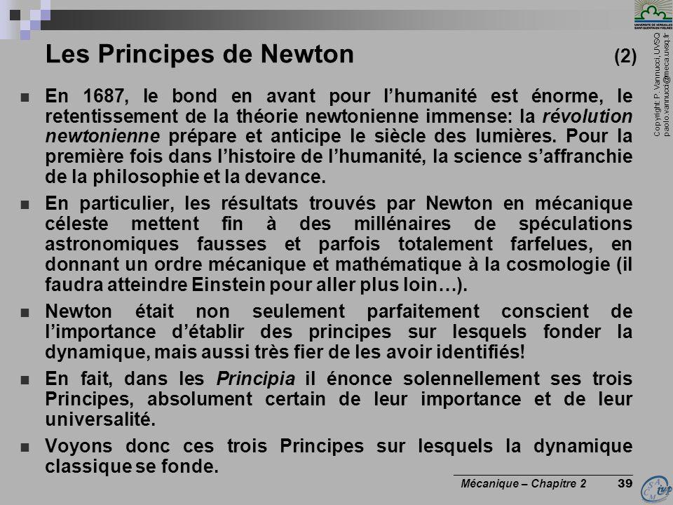 Les Principes de Newton (2)