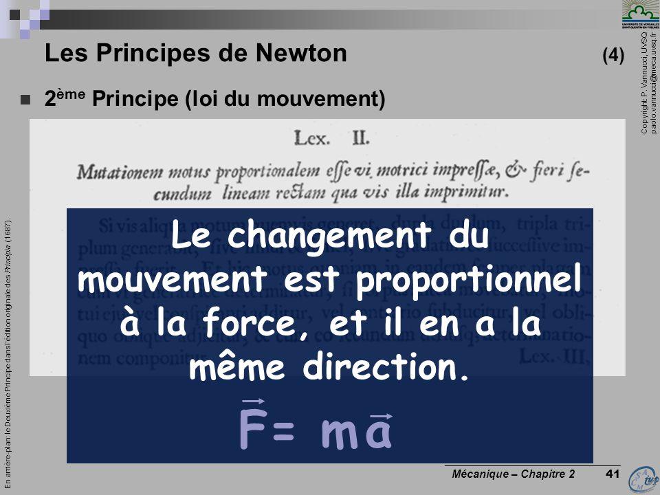 Les Principes de Newton (4)