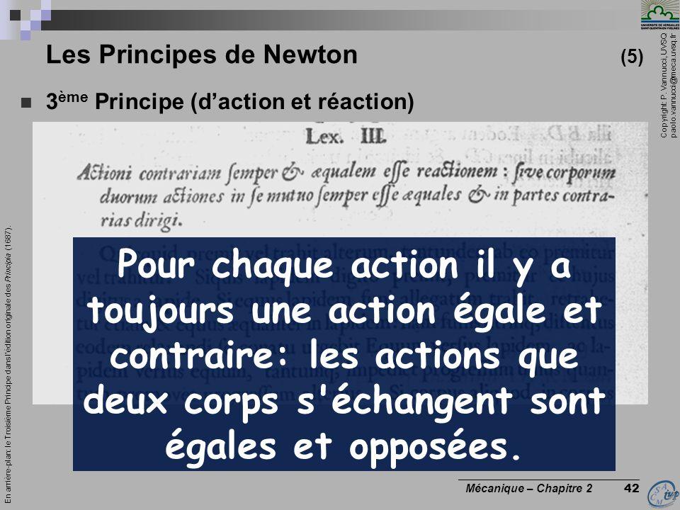 Les Principes de Newton (5)