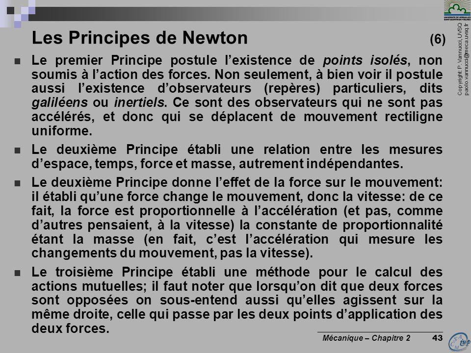 Les Principes de Newton (6)
