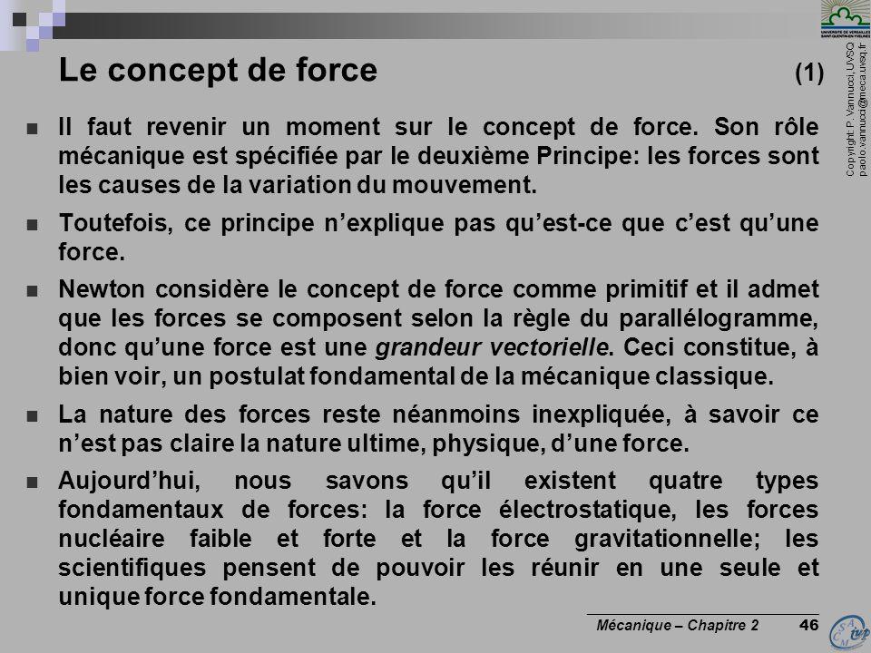 Le concept de force (1)