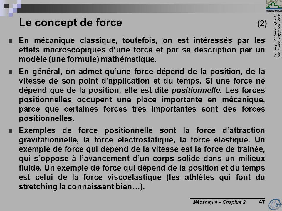 Le concept de force (2)