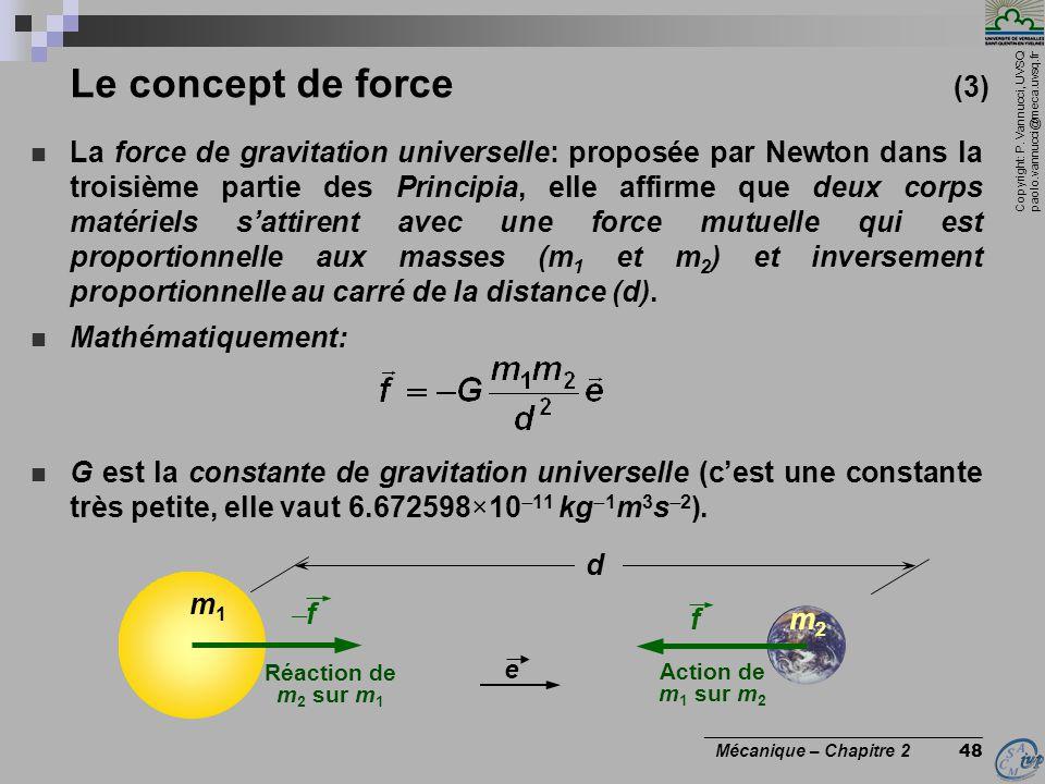 Le concept de force (3)