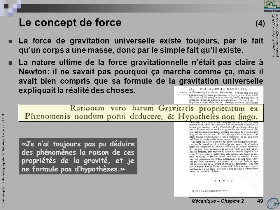 Le concept de force (4)