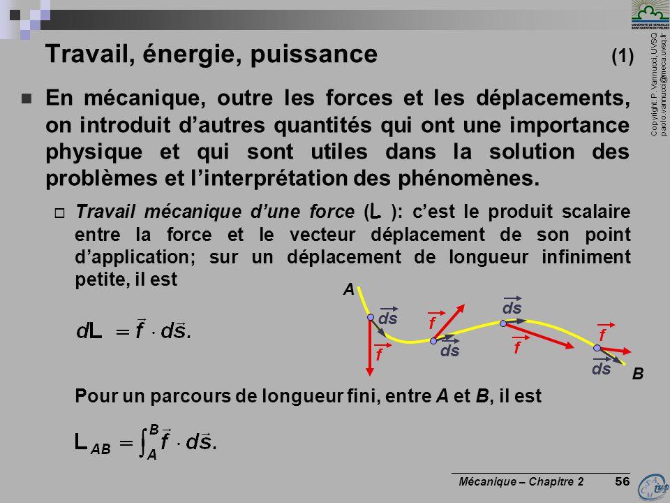 Travail, énergie, puissance (1)