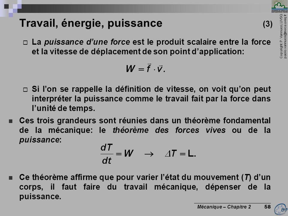 Travail, énergie, puissance (3)
