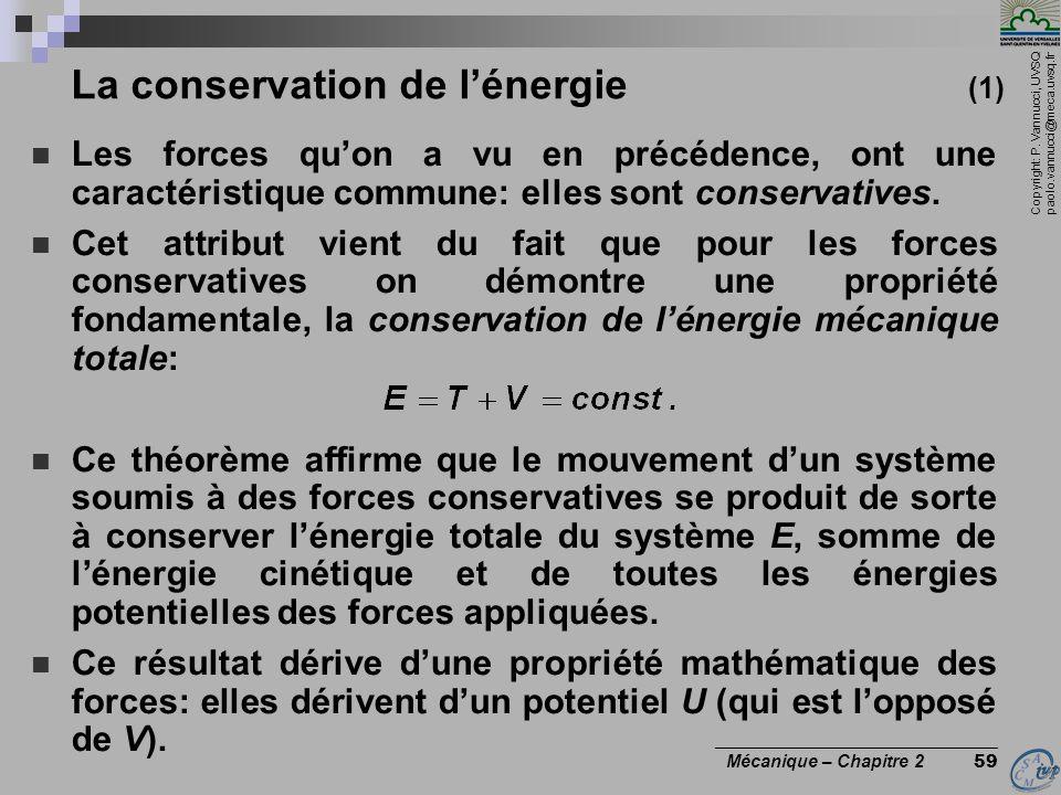 La conservation de l'énergie (1)
