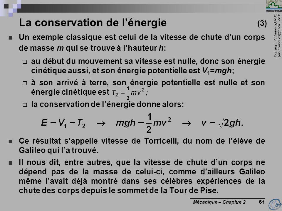 La conservation de l'énergie (3)