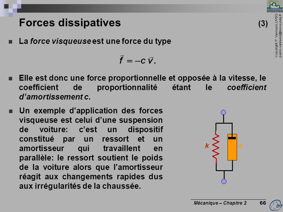 Forces dissipatives (3)