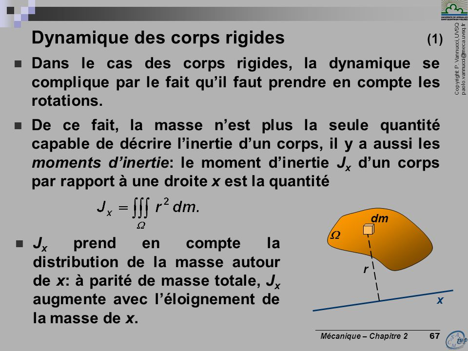 Dynamique des corps rigides (1)