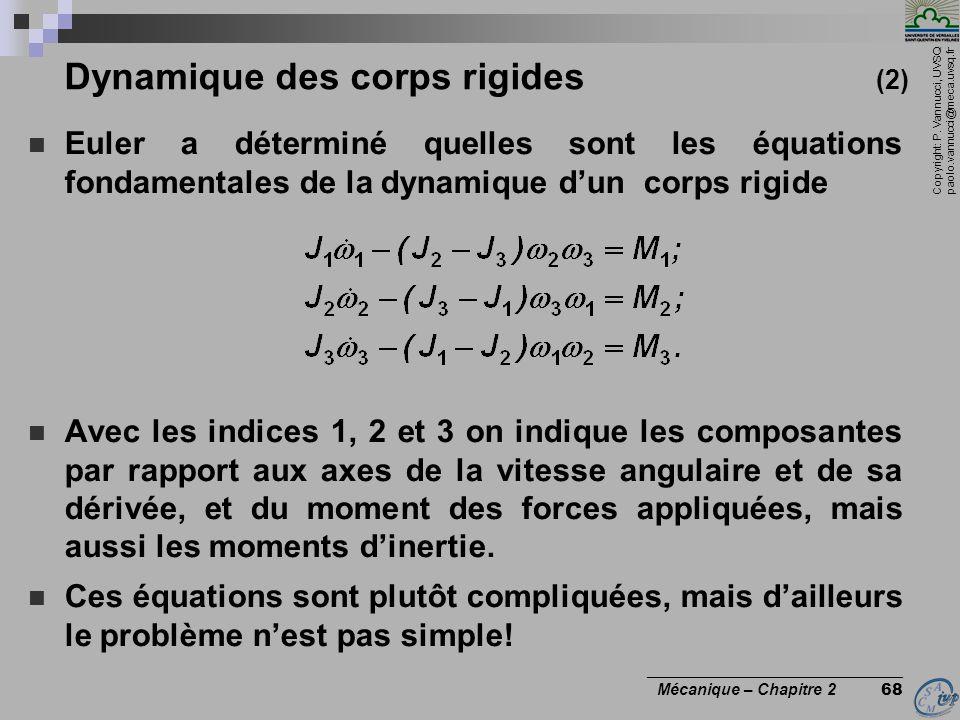 Dynamique des corps rigides (2)