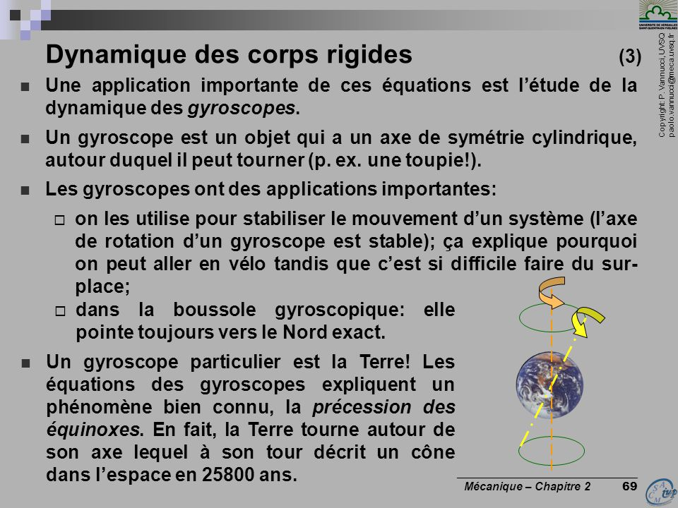 Dynamique des corps rigides (3)