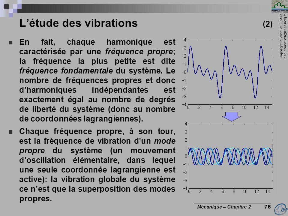 L'étude des vibrations (2)