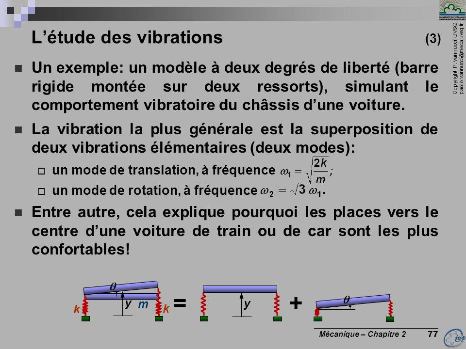 L'étude des vibrations (3)