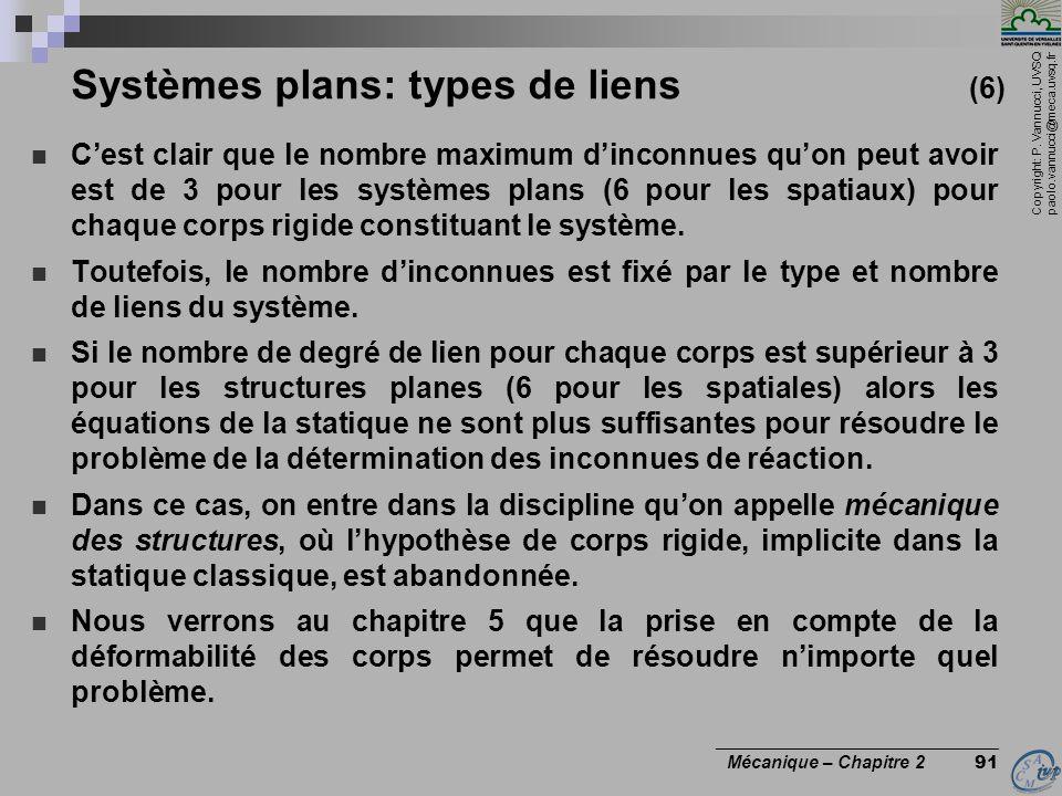 Systèmes plans: types de liens (6)