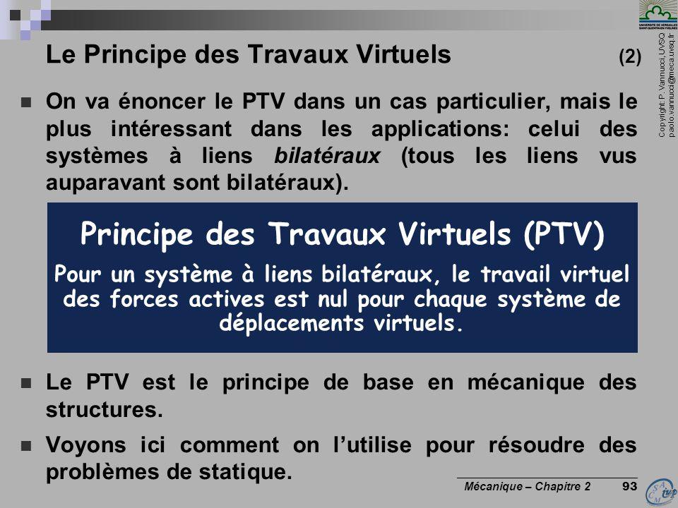 Le Principe des Travaux Virtuels (2)