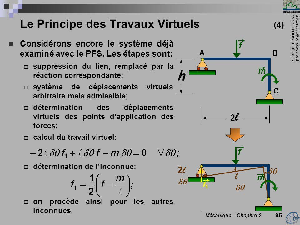 Le Principe des Travaux Virtuels (4)