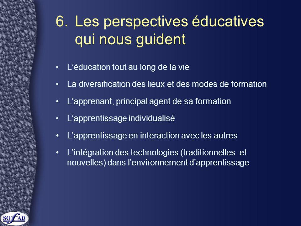 6. Les perspectives éducatives qui nous guident