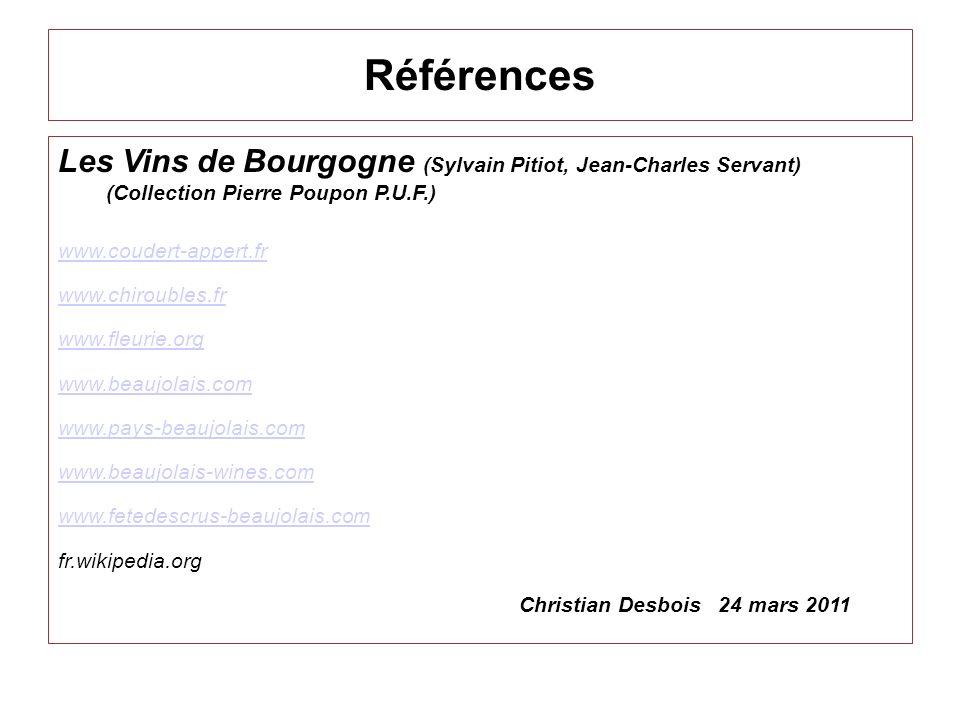 RéférencesLes Vins de Bourgogne (Sylvain Pitiot, Jean-Charles Servant) (Collection Pierre Poupon P.U.F.)