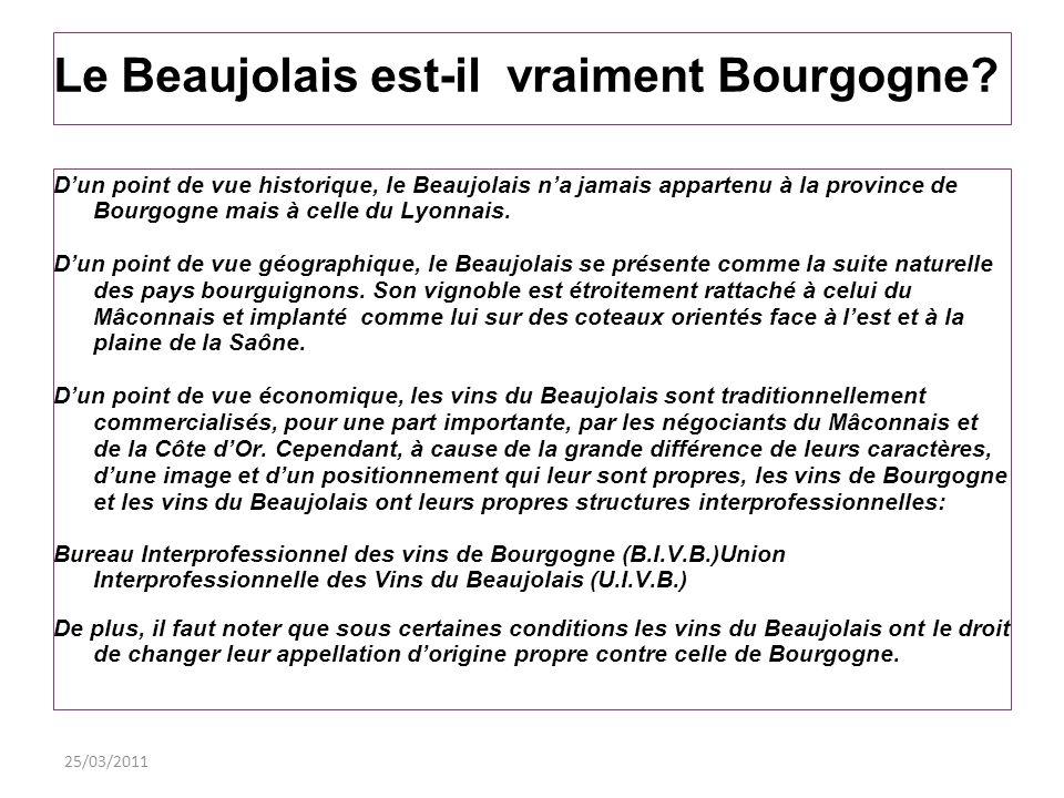 Le Beaujolais est-il vraiment Bourgogne