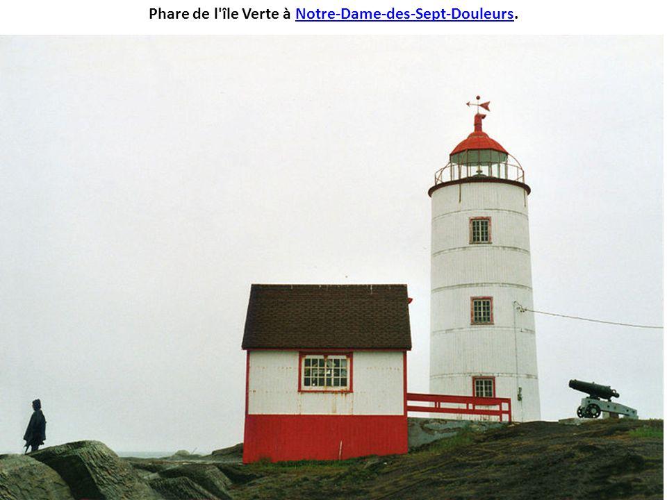 Phare de l île Verte à Notre-Dame-des-Sept-Douleurs.