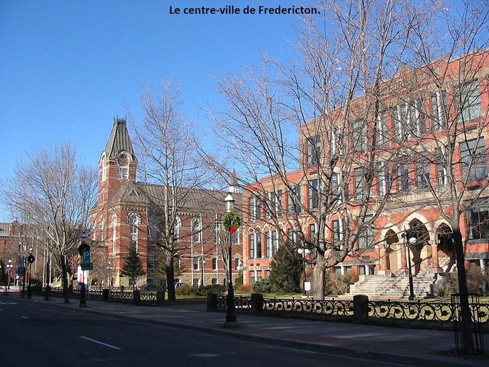 Le centre-ville de Fredericton.