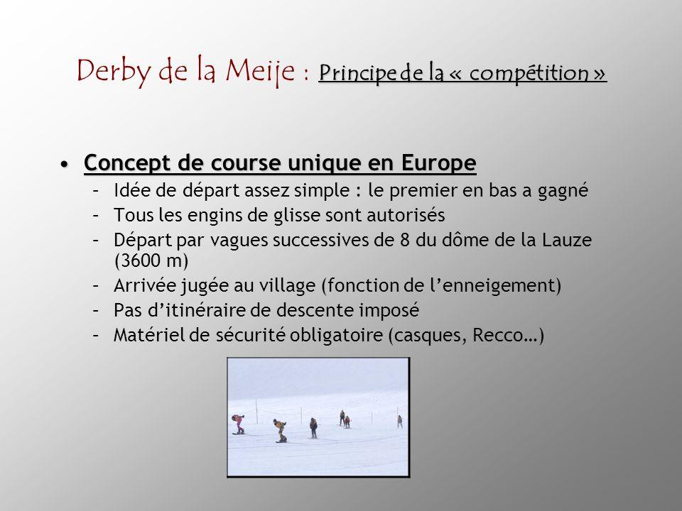 Derby de la Meije : Principe de la « compétition »