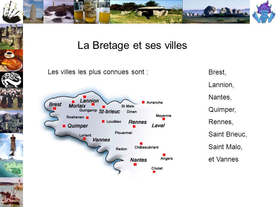 La Bretage et ses villes