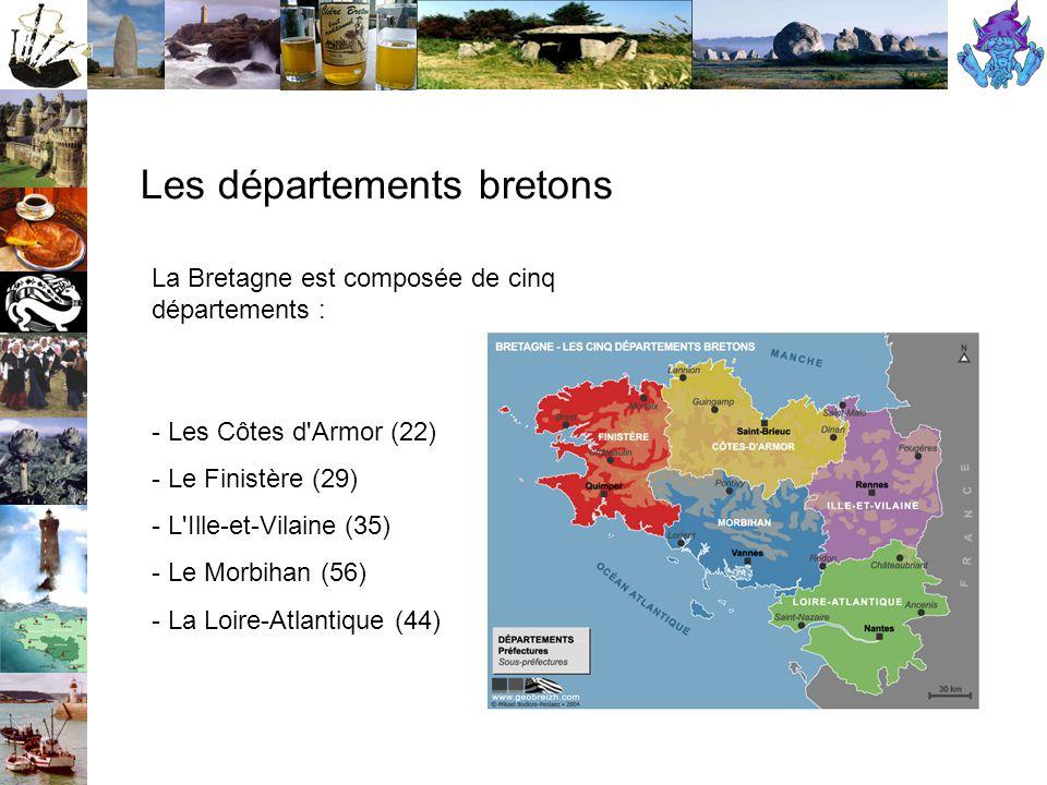 Les départements bretons
