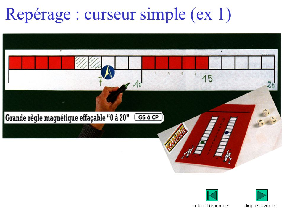 Repérage : curseur simple (ex 1)