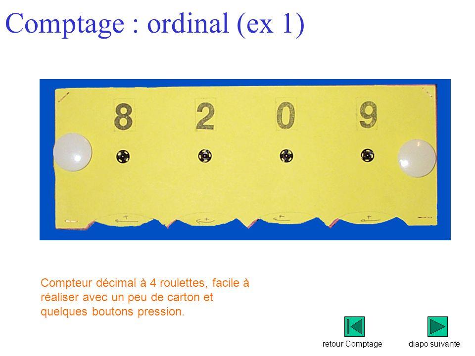 Comptage : ordinal (ex 1)