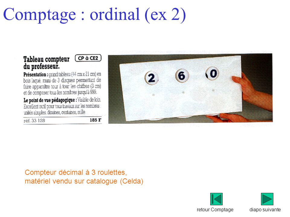 Comptage : ordinal (ex 2)