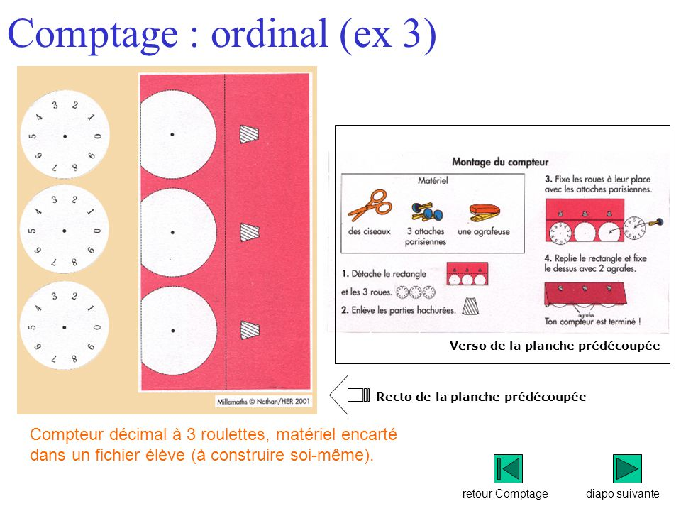 Comptage : ordinal (ex 3)