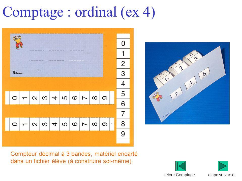 Comptage : ordinal (ex 4)