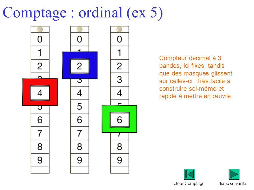 Comptage : ordinal (ex 5)