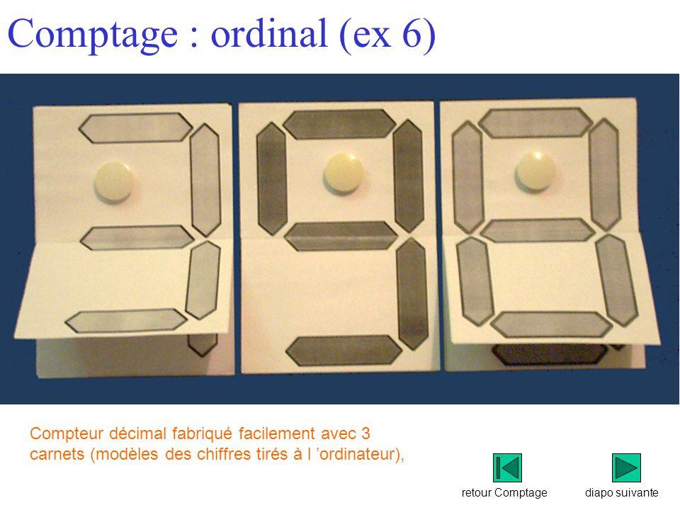 Comptage : ordinal (ex 6)