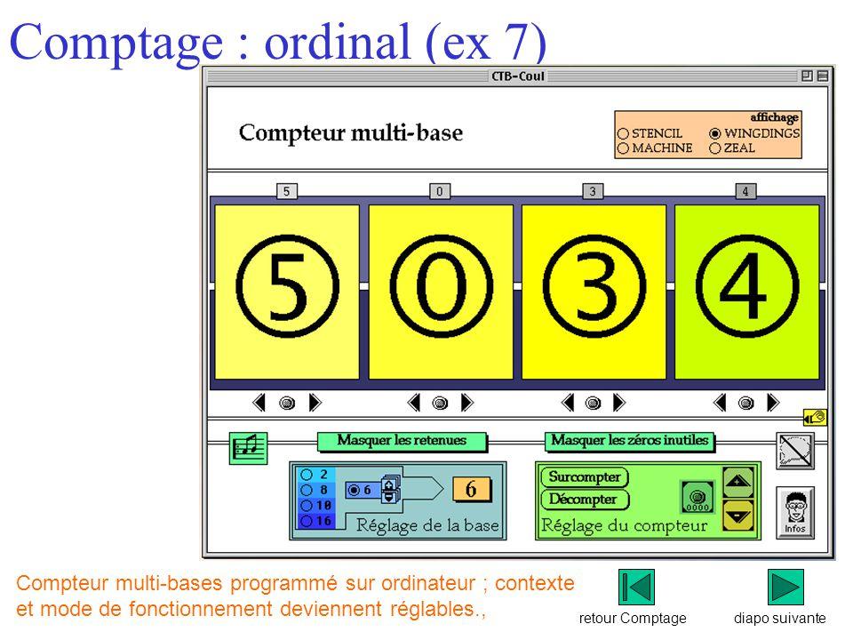 Comptage : ordinal (ex 7)