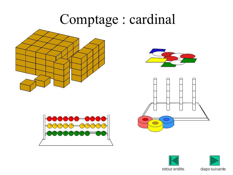 Comptage : cardinal retour entête. diapo suivante