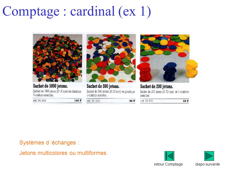 Comptage : cardinal (ex 1)