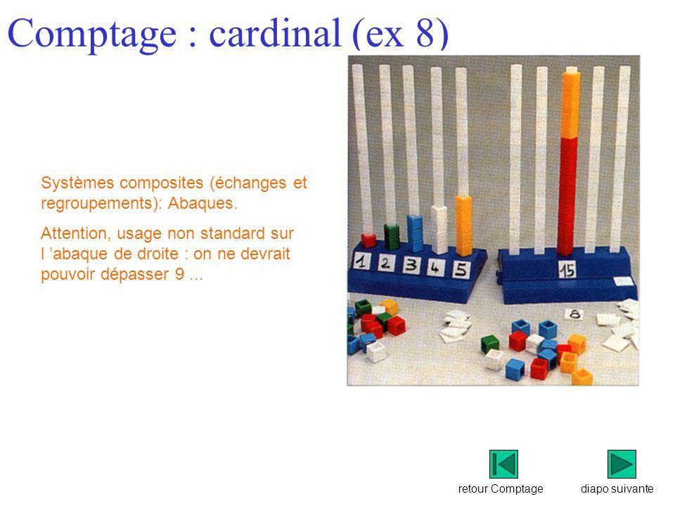 Comptage : cardinal (ex 8)