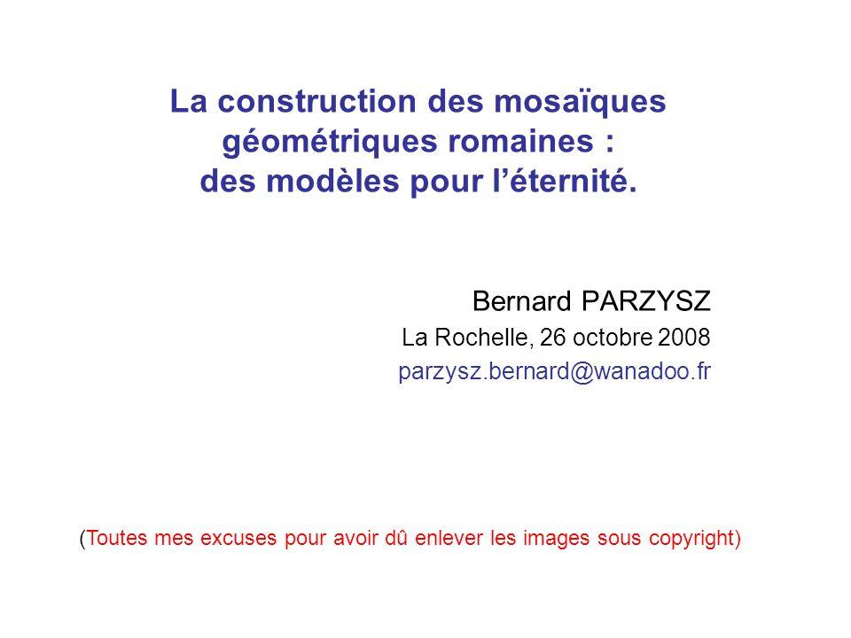 La construction des mosaïques géométriques romaines : des modèles pour l'éternité.