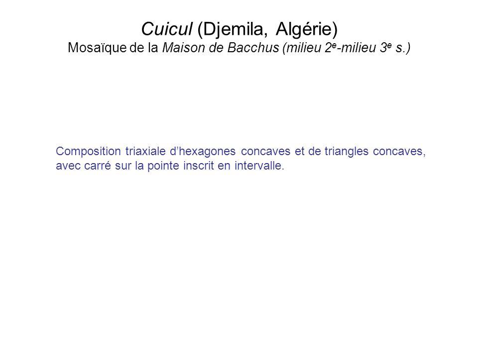 Cuicul (Djemila, Algérie) Mosaïque de la Maison de Bacchus (milieu 2e-milieu 3e s.)