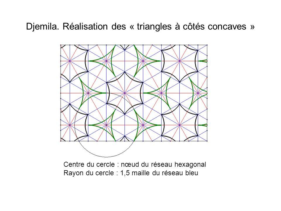 Djemila. Réalisation des « triangles à côtés concaves »