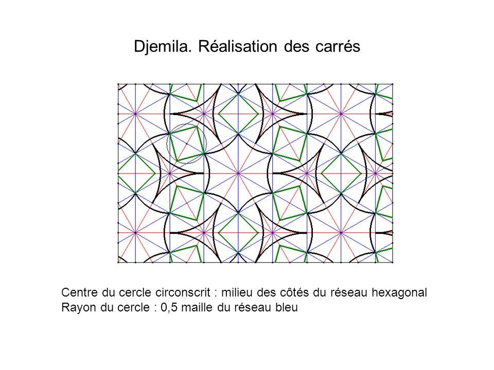 Djemila. Réalisation des carrés