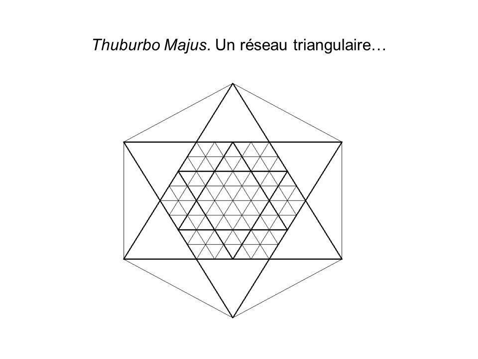 Thuburbo Majus. Un réseau triangulaire…