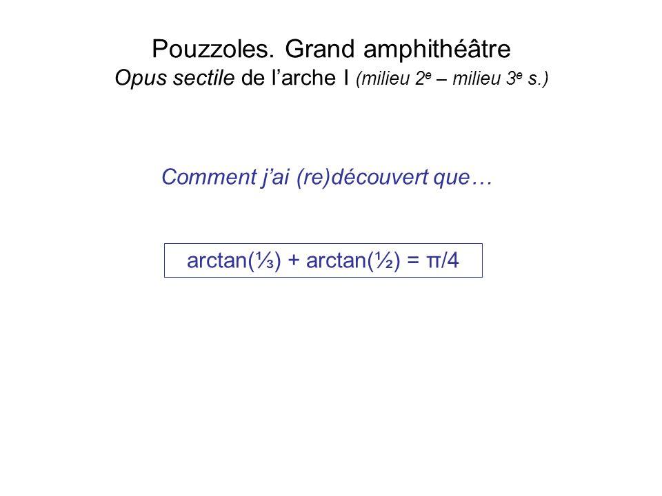 arctan(⅓) + arctan(½) = π/4