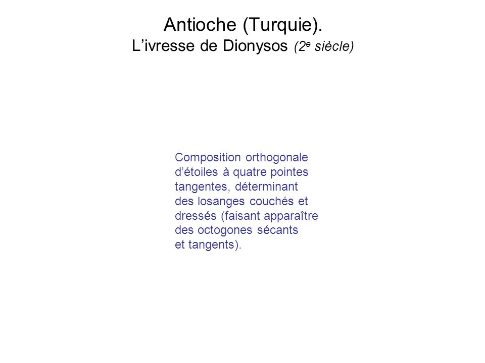 Antioche (Turquie). L'ivresse de Dionysos (2e siècle)